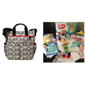 """""""PICK UP & GO"""" COMPLETE - HEART SIGNATURE BABY BAG"""