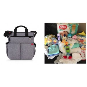 """""""PICK UP & GO"""" COMPLETE - GREY HEATHER SIGNATURE BABY BAG"""